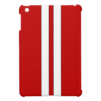Red Racing stripes ipad mini case