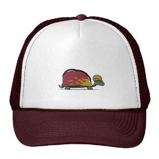 red racing turtle mesh hats