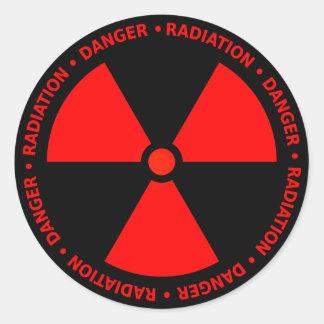 Red Radiation Symbol Sticker