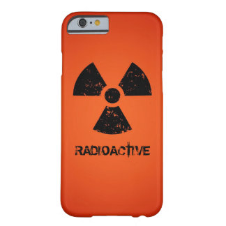 Red Radioactive Symbol Barely There iPhone 6 Case