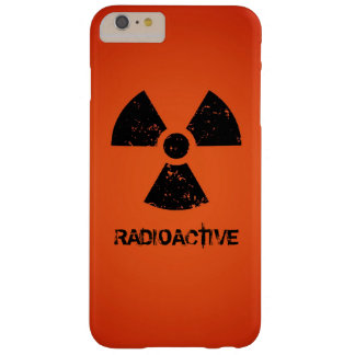 Red Radioactive Symbol Barely There iPhone 6 Plus Case