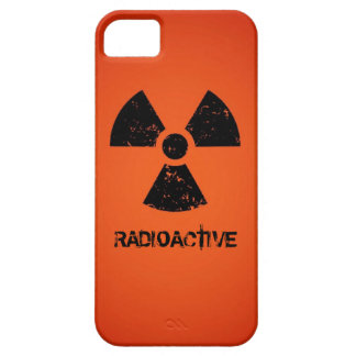 Red Radioactive Symbol iPhone 5 Cases