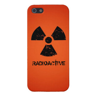 Red Radioactive Symbol Cases For iPhone 5