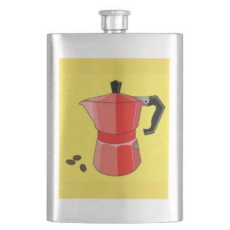 Red Rainbow Espresso Hip Flask