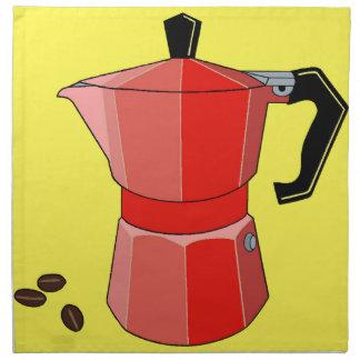 Red Rainbow Espresso Napkin