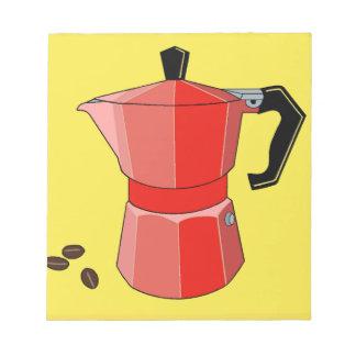 Red Rainbow Espresso Notepad