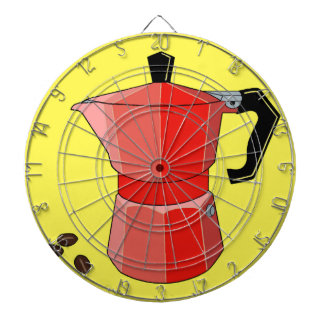 Red Rainbow Espresso Pot Dartboard
