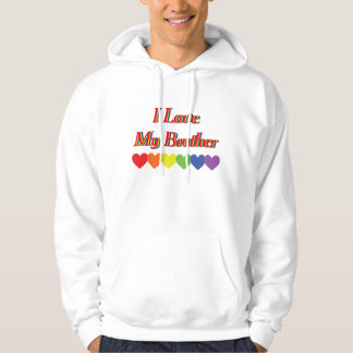 Red Rainbow Text I Love My Brother Sweatshirts