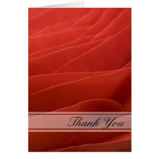 Red Ranunculus Bridesmaid Thank You Note Card