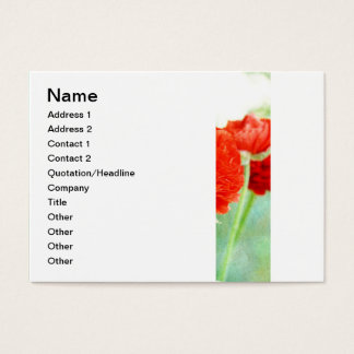 Red Ranunculus Flowers Business Card