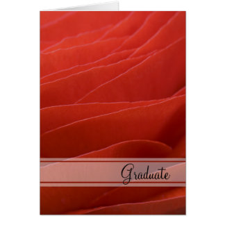 Red Ranunculus Graduation Congratulations Card
