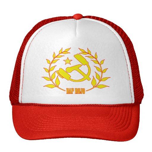 Red Rap cap Mesh Hat