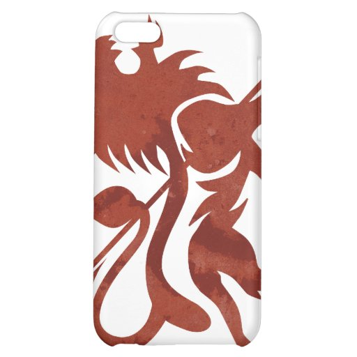 Red Ras Lion iPod Touch by Skidone iPhone 5C Covers