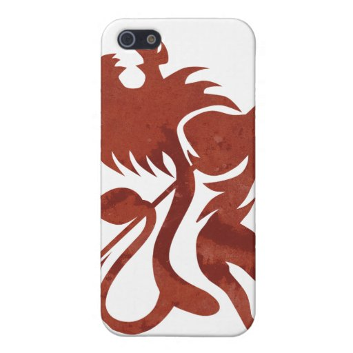 Red Ras Lion iPod Touch by Skidone iPhone 5 Cases