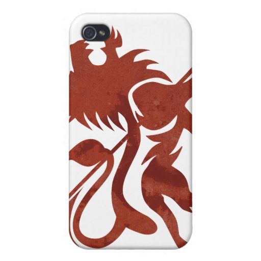 Red Ras Lion iPod Touch by Skidone iPhone 4/4S Case