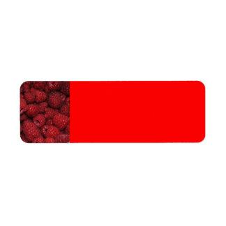 Red Raspberries Avery Label Return Address Label