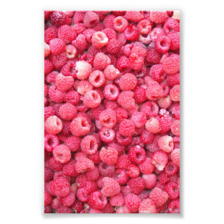 red raspberries template to customize personalize photographic print