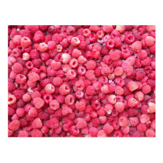 red raspberries template to customize personalize postcard