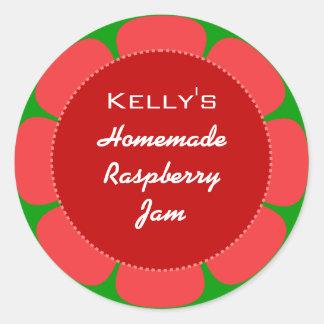 Red Raspberry jam label