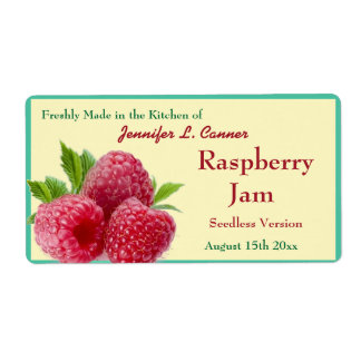 Red Raspberry Jam or Preserves 2 Canning Jar