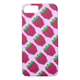 Red Raspberry Pattern iPhone 7 Case