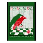 Red Raven Rag Postcards