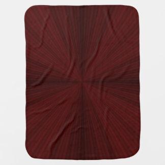 Red Rays Quartered Baby Blanket