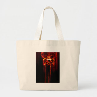 red red canvas bag