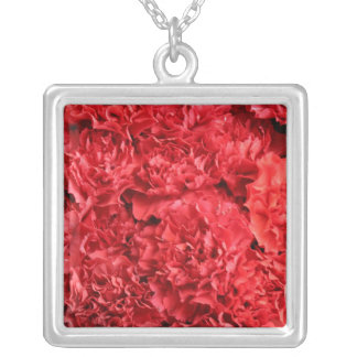 Red Red Carnations Necklaces