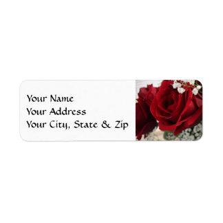 Red Red Rose Return Address Label