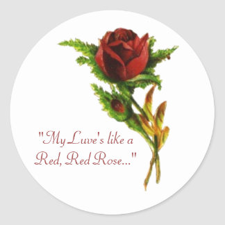 Red, Red Rose Sticker