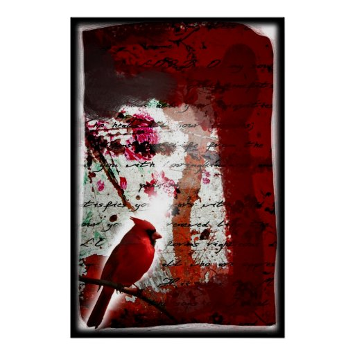 Red Redemption (Cardinal Abstract Art) Poster