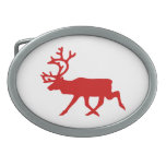 Red Reindeer / Caribou Silhouette