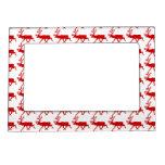 Red Reindeer / Caribou Silhouette