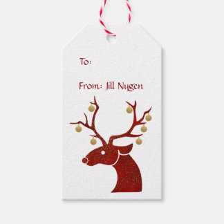 Red Reindeer Gift Tags