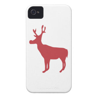 Red Reindeer iPhone 4/4S Case-Mate Barely There