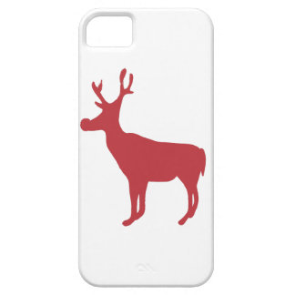 Red Reindeer iPhone 5 Case-Mate Barely There