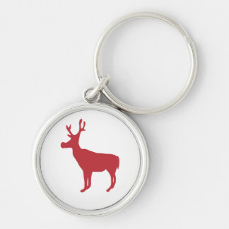 Red Reindeer Keychain/Keyring Key Ring