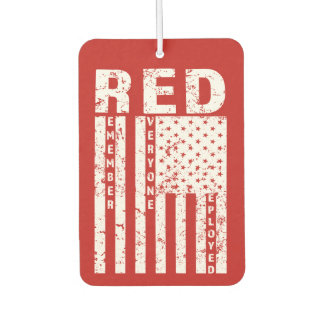 RED Remember Everyone Deployed Military car freshe Car Air Freshener