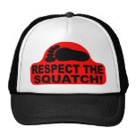 Red RESPECT THE SQUATCH! Logo - New Hit Squatchin