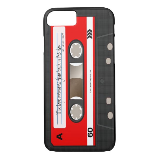 Red Retro Cassette Tape Personalised Case