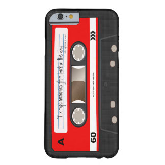 Red Retro Cassette Tape Personalized Case Barely There iPhone 6 Case