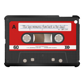 Red Retro Cassette Tape Personalized iPad Mini Cover