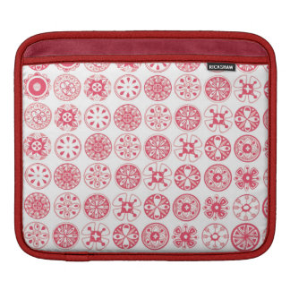 red retro circles sleeve for iPads