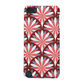 Red Retro Flower Design iPod Touch (5th Generation) Covers