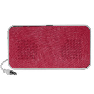 Red Retro Grunge Scratched Texture iPod Speakers