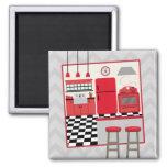 Red Retro Kitchen Magnet