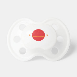 Red Retro Planet Cartoon Pacifier
