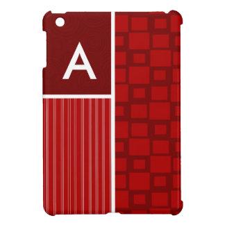 Red Retro Squares iPad Mini Cover
