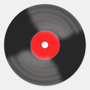 vinyl record stickers labels zazzle uk. Black Bedroom Furniture Sets. Home Design Ideas